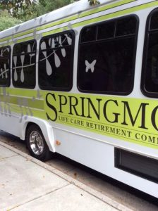 The Springmoor Bus preparing for a tour