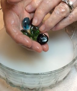 The round stones and soft silky solution pamper your hands