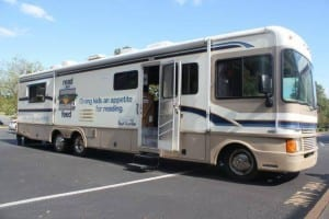 One of Read and Feed's mobile classrooms