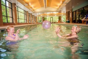The Wellness Center offers a perfect place to exercise and play with your grandchildren