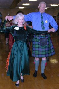 Dudley and Marjory in the Morrison Clan plaids
