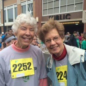 Springmoor Residents, Harriet Ross and Marlene Lambeth were part of the Autism Team Walk