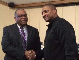 Ken Dunston with 25 years and James Dixon with 30 years of service to the community