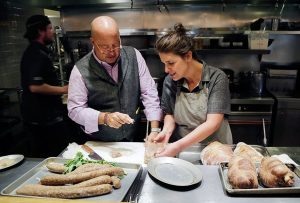 Vivian with the Travel Channel's Andrew Zimmern