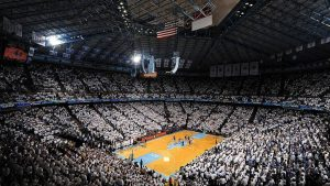 UNC Basketball in the Dean Dome