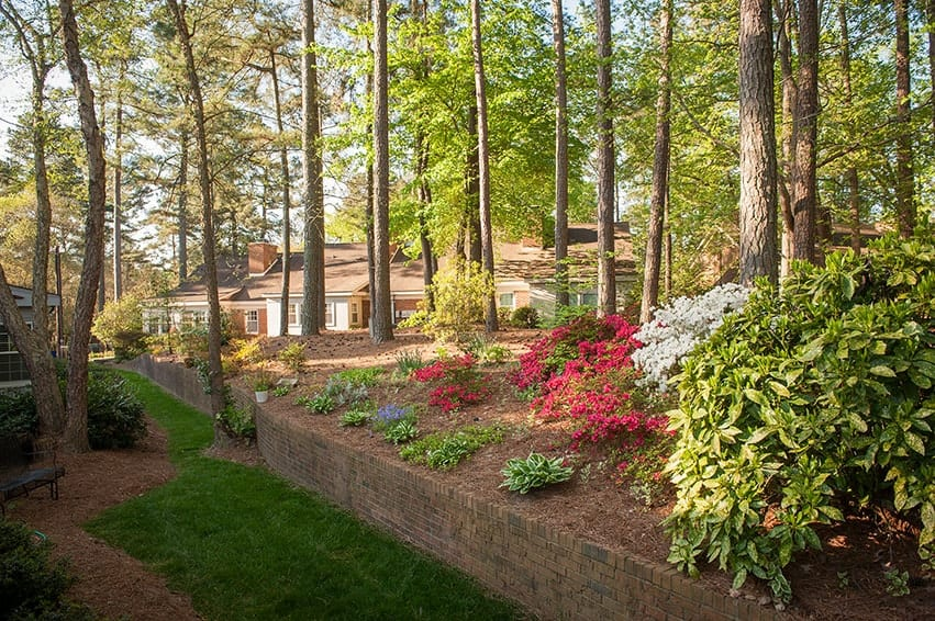 Our residents add to the landscapes with their own floral gardens