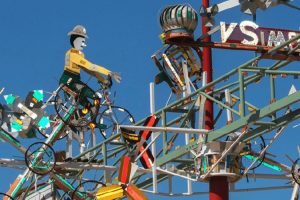 Vollis Simpson brings art and science together with his whirligigs