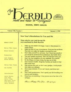 A January 1998 edition of The Herald