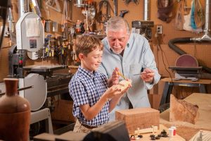 Our wood shop is filled with a variety of tools for turning wood, making a bird house or repairing a piece of furniture