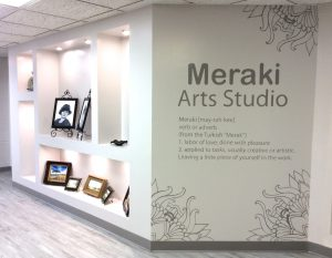 Our newest addition is the Meraki Arts Studio where visiting artist teach weekly creative classes