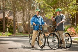 Biking in the neighborhood or on the Capital Area Greenway Trails is easy at Springmoor
