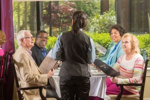 Springmoor has four dining options for our residents and their families