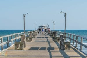 The sea breeze is wonderful on the Oceanana Pier at Atlantic Beach