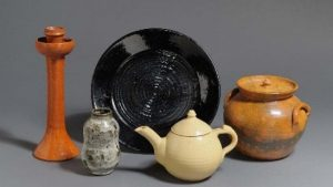 The largest display of Jugtown Pottery can be found at the Greenville Museum of Art