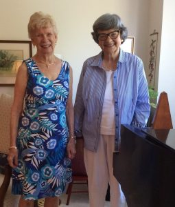 Sandy Finch and Marilyn Jordan were introduced to each other at a Springmoor Marketing Event