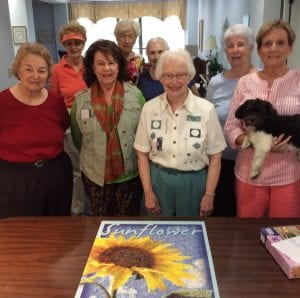 Creedmoor Puzzlers Goldie, Julie, Libby, Linda (and MoJo), Anne, Mary Lou, Sibylia and Lois