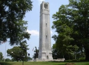 The Bell Tower at North Carolina State University