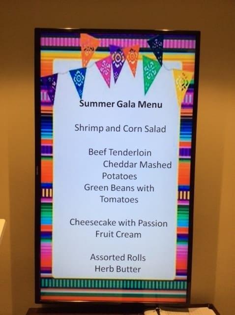 Springmoor summer gala menu