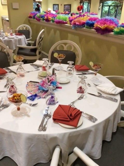 Dinner table at Springmoor summer gala