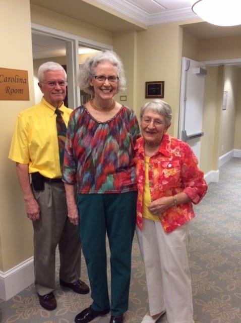 Three active seniors at Springmoor summer gala