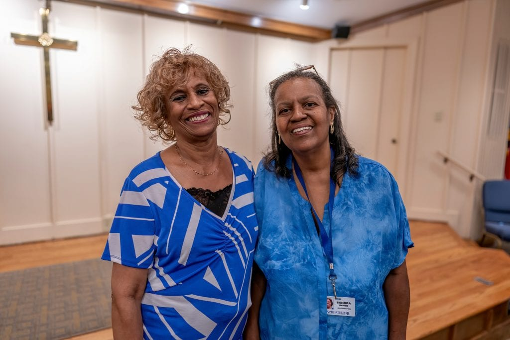As Springmoor celebrated its 35th anniversary, it honored two sisters who have worked at the community since the beginning.