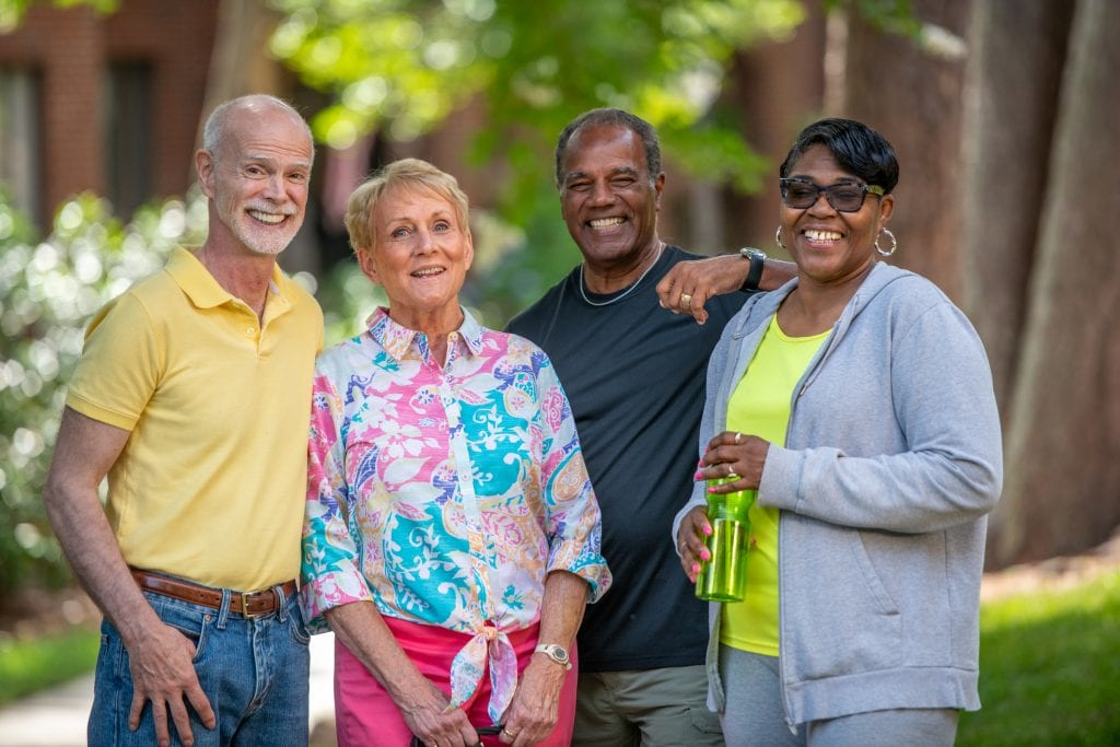 Social interaction is one of the biggest benefits of a CCRC when comparing them to the 55 plus communities in NC.