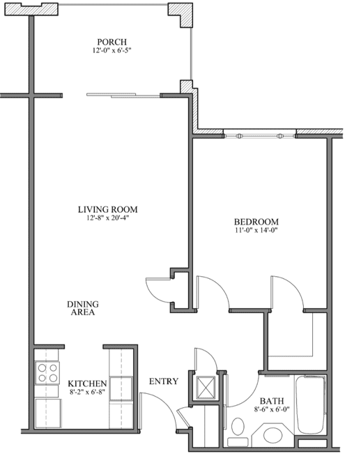 Enjoy space and convenience with the 1-bedroom residence for your NC retirement at Springmoor