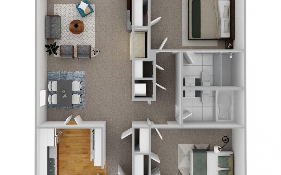 Springmoor Floorplan Feature: Two Bedroom Villa