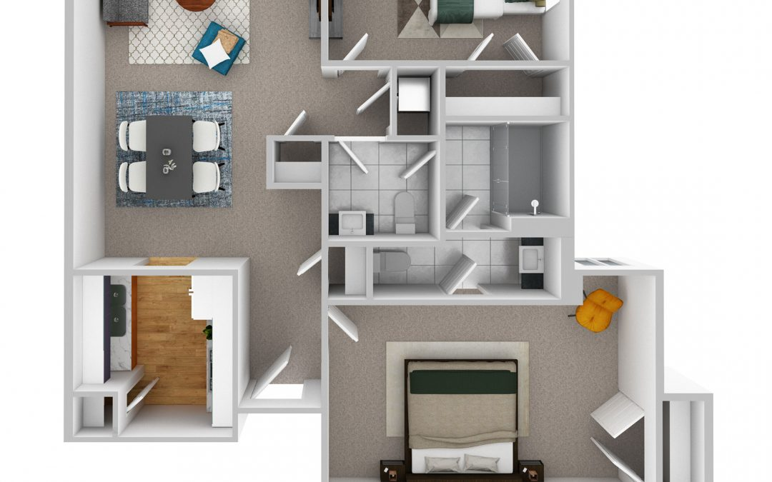 Floorplan Feature: Two Bedroom Apartment